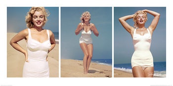 Marilyn Monroe - Beach Triptych Reproduction d'art