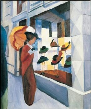 Milliner's Shop (Hutladen), 1923 Reproduction d'art