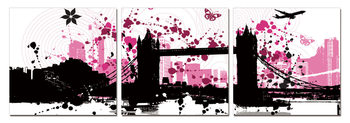Modern Design - City Collage Tableau Multi-Toiles