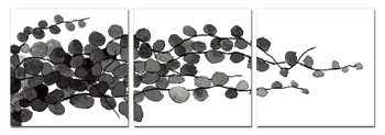 Modern Design - Young Branches (B&W) Tableau Multi-Toiles