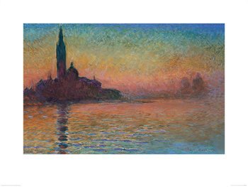 Monet - Sunset in Venice Reproduction de Tableau