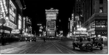 New York – Times Square at night-1910 Reproduction d'art