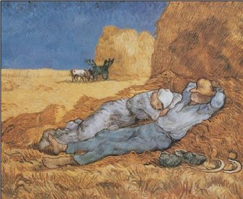 Noon: Rest from Work, 1890 Reproduction de Tableau