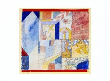 P.Klee - Abstraction Mit Dem Krug Reproduction de Tableau
