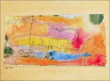 P.Klee - Der Fish Im Ahfen Reproduction de Tableau