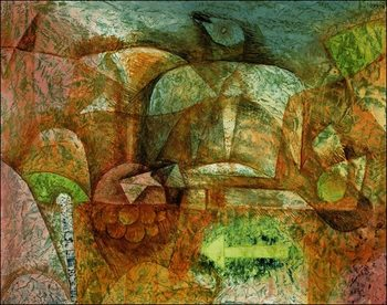 P.Klee - Stillben Mit Der Taube Reproduction de Tableau