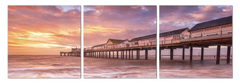 Pier at sunset Tableau Multi-Toiles