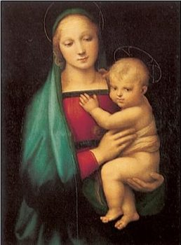 Raphael Sanzio - The Madonna del Granduca, 1505 Reproduction de Tableau
