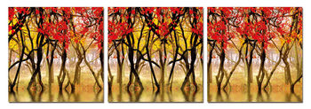 Red leaves Tableau Multi-Toiles