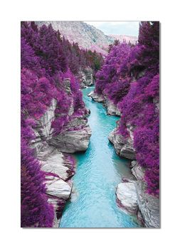 River flows in Purple Forest Tableau Multi-Toiles