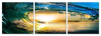 Rushing wave in the sun Tableau Multi-Toiles