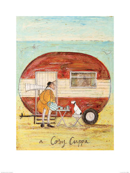 Sam Toft - A Cosy Cuppa Reproduction de Tableau