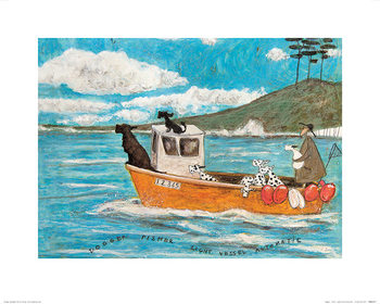 Sam Toft - Dogger, Fisher, Light Vessel Automatic Reproduction de Tableau