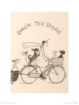 Reproduction d'art Sam Toft - Doggie Taxi Service