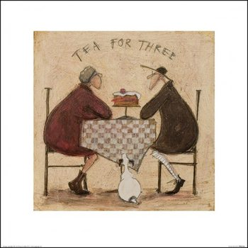 Sam Toft - Tea for Three 8 Reproduction de Tableau