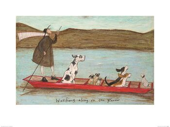 Reproduction d'art Sam Toft - Woofing Along on the River