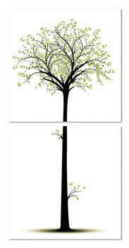 Silhouette of a tree Tableau Multi-Toiles