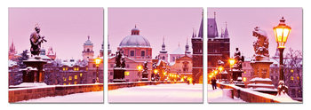 Snowy city Tableau Multi-Toiles
