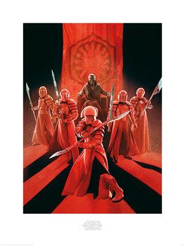 Star Wars, épisode VIII : Les Derniers Jedi - Snoke & Elite Guards Reproduction de Tableau