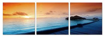 Sunrise over the beach Tableau Multi-Toiles