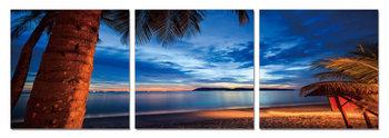 Twilight over palm trees Tableau Multi-Toiles