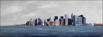 View from boat to Manhattan Reproduction d'art