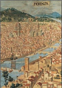 View of Florence Reproduction d'art