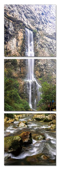 Waterfall in the forest Tableau Multi-Toiles