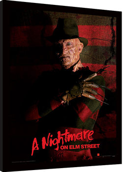 Afiș înrămat A Nightmare On Elm Street - Freddy Krueger