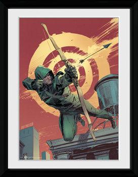 Arrow - Comic Red tablou Înrămat cu Geam
