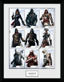 Assassins Creed - Compilation Characters Afiș înrămat