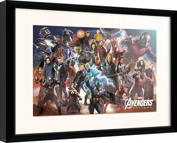 Afiș înrămat Avengers: Endgame - Line Up