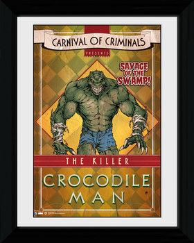 Batman Comic - Circus Crocodile tablou Înrămat cu Geam