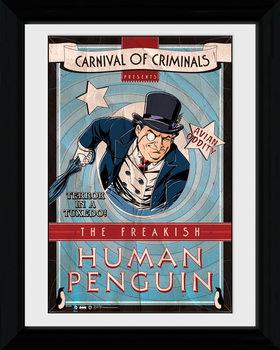Batman Comic - Circus Human Penguin tablou Înrămat cu Geam