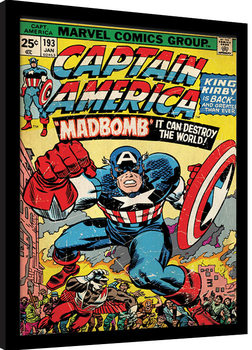 Afiș înrămat Captain America - Madbomb