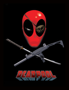 Deadpool - Eye Patch Afiș înrămat