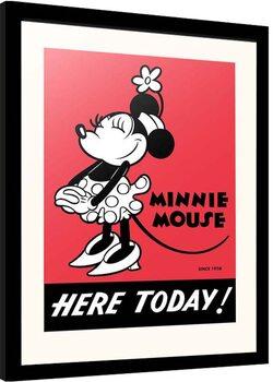Afiș înrămat Disney - Minnie Mouse - Here Today!