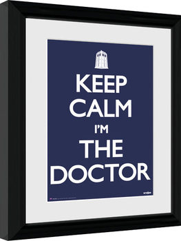 Afiș înrămat Doctor Who - Keep Calm
