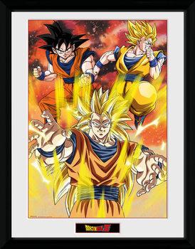 Dragon Ball Z - 3 Gokus tablou Înrămat cu Geam