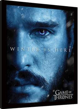 Game Of Thrones - Winter is Here - Jon Afiș înrămat