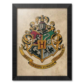 Afiș înrămat Harry Potter - Hogwarts Chrest