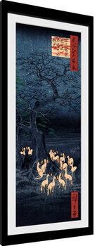 Hiroshige - New Years Eve Foxfire Afiș înrămat