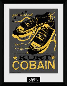 Kurt Cobain - Shoes tablou Înrămat cu Geam
