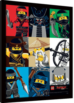 LEGO® Ninjago Movie - Colour Blocks Afiș înrămat