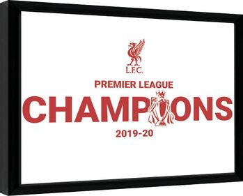 Afiș înrămat Liverpool FC - Champions 19/20