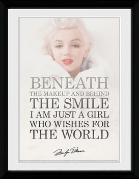 Marilyn Monroe - Beneath tablou Înrămat cu Geam