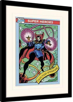Afiș înrămat Marvel Comics - Doctor Strange Trading Card