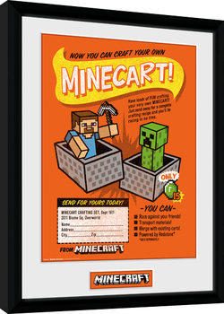 Afiș înrămat Minecraft - Craft Your Own Minecraft