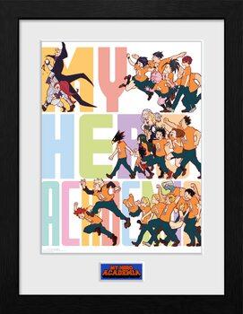 Afiș înrămat My Hero Academia - Season 4 Key Art 3