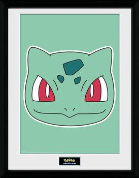Pokemon - Bulbasaur Face tablou Înrămat cu Geam